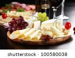 Cheese And Salami Platter With...