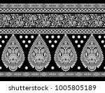 seamless  horizontal with... | Shutterstock . vector #1005805189