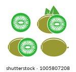 kiwi logo. isolated kiwi on...   Shutterstock .eps vector #1005807208