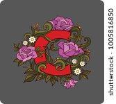 red letter c  vector image ... | Shutterstock .eps vector #1005816850
