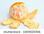 mandarin orange white background | Shutterstock . vector #1005820306