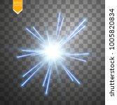 light digital star on the... | Shutterstock .eps vector #1005820834