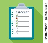 checklist on a sheet of paper.... | Shutterstock .eps vector #1005821800