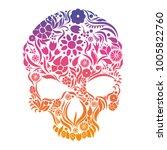 skull herbs. vector illustration | Shutterstock .eps vector #1005822760