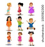 collection of children | Shutterstock .eps vector #100582300