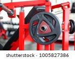 close up many metal dumbbells... | Shutterstock . vector #1005827386