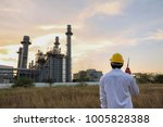 engineer working at thermal... | Shutterstock . vector #1005828388