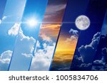 opposites in nature  day and... | Shutterstock . vector #1005834706