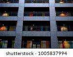 multicolored windows in the... | Shutterstock . vector #1005837994