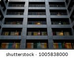 multicolored windows in the... | Shutterstock . vector #1005838000