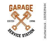 garage. service station. emblem ... | Shutterstock .eps vector #1005839644