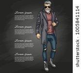 vector man model | Shutterstock .eps vector #1005841114