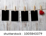 instant photo frame and love... | Shutterstock . vector #1005843379