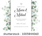 wedding eucalyptus vertical... | Shutterstock .eps vector #1005844060