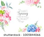 floral borders arranged from... | Shutterstock .eps vector #1005844066