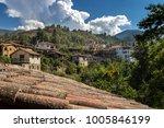 village in mountains | Shutterstock . vector #1005846199