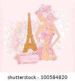 beautiful women shopping in... | Shutterstock .eps vector #100584820