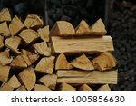 firewood stock for heating | Shutterstock . vector #1005856630