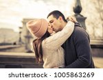 in a passionate kiss  | Shutterstock . vector #1005863269