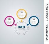 vector infographic template for ... | Shutterstock .eps vector #1005865579
