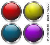 glossy buttons  badges  orbs.... | Shutterstock .eps vector #1005875320