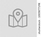 map pointer vector icon eps10.... | Shutterstock .eps vector #1005877198