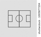 soccer field vector icon eps 10.... | Shutterstock .eps vector #1005877204