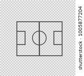 soccer field vector icon eps 10.... | Shutterstock .eps vector #1005877204