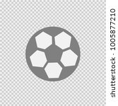 soccer ball vector icon eps 10. ... | Shutterstock .eps vector #1005877210