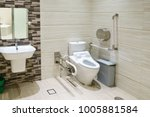 interior of bathroom for the... | Shutterstock . vector #1005881584