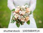 beautiful wedding bouquet in...   Shutterstock . vector #1005884914