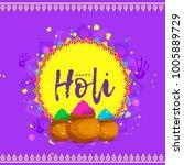 indian festival of happy holi... | Shutterstock .eps vector #1005889729