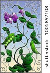 illustration in stained glass... | Shutterstock .eps vector #1005892108