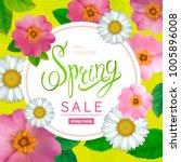 spring sale background with... | Shutterstock .eps vector #1005896008