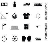 soccer icon set | Shutterstock .eps vector #1005898090