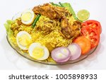spicy indian chicken biriyani... | Shutterstock . vector #1005898933