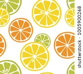 seamless pattern with slices of ... | Shutterstock .eps vector #1005900268