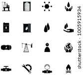 oil icon set | Shutterstock .eps vector #1005915934