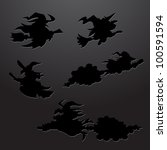 witch silhouette | Shutterstock .eps vector #100591594