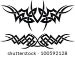 the stylized pattern in the... | Shutterstock .eps vector #100592128