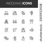 outline black icons set in thin ... | Shutterstock .eps vector #1005922438