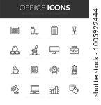outline black icons set in thin ... | Shutterstock .eps vector #1005922444