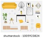 set of cool interior design...   Shutterstock .eps vector #1005923824