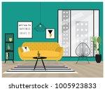 set of cool interior design... | Shutterstock .eps vector #1005923833