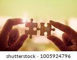 silhouette woman hands... | Shutterstock . vector #1005924796