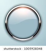 glossy button  grey with... | Shutterstock .eps vector #1005928348