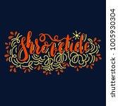 hand writen lettering...   Shutterstock .eps vector #1005930304