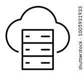 cloud server line icon.  96x96... | Shutterstock . vector #1005931933