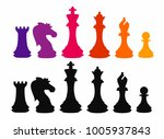 chess colorful figures pieces... | Shutterstock .eps vector #1005937843