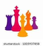 chess colorful figures pieces... | Shutterstock .eps vector #1005937858